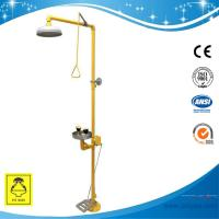 Wholesale SH713BSF-Pedaled shower & eyewash station,SS304,combination foot operated type from china suppliers