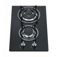 Wholesale 8mm Tempered Glass 2 Burner Gas Hob / Gas Cooker Cast Iron Pan Support from china suppliers