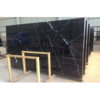 Wholesale Honed Polished Black Marquina Marble Stone Slab For Bathroom Vanity Tops from china suppliers