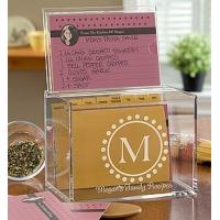 Hot Sale!!! Factory Handmade Manufacturing Acrylic Clear Recipe Card Box for 4x6 Card
