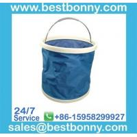 Wholesale 25 x 27cm foldable collapsible flexible plastic bucket rubbish bin  - BN6065 from china suppliers