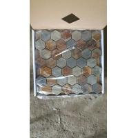 Wholesale Slate Hexagon Mosaic Rust Slate Wall Mosaic Multicolor Slate Floor Mosaic Slate Tiles from china suppliers