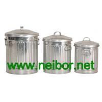 Wholesale galvanized storage cans storage bins with lid 4L 7L 10Litres from china suppliers