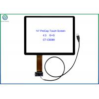 "Wholesale 14"" USB Interface Projected Capacitive Touch Screen Panel For Commercial Kiosks from china suppliers"