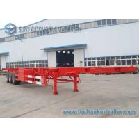 Wholesale Flatbed Three Axles Container Skeletal Trailer 53ft Container Mechanical Suspension from china suppliers