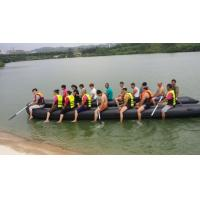 Wholesale Black Hand Made 0.9mm PVC Heavy Duty Inflatable Boat 20 Person from china suppliers