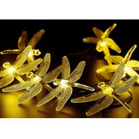 Quality LED Solar String Lights Outdoor Multicolor Dragonfly 20 LEDs Waterproof with 8 Modes for sale