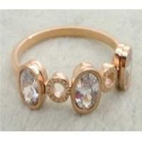 Wholesale 316L stainless steel ring with cz stone LRX29 from china suppliers