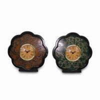 Wholesale Petaline-shaped Desk Clock, Made of Ceramic and Plastic, Customized Designs are Welcome from china suppliers