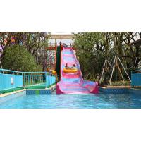 Wholesale 1.2 M Width Pink / Purple Small Water Slides Fiberglass Water Slide for Pool from china suppliers