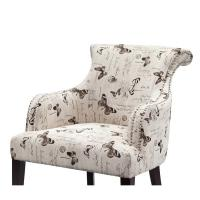 Wholesale Rosy Rollback Upholstered Accent Chairs Plywood Frame With Birch Wood Legs from china suppliers