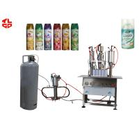 Wholesale Semi Automatic Air Freshener Filling Machine , Aerosol Liquid Filling Sealing Machine from china suppliers