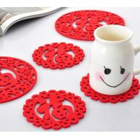 Wholesale high quality factory price customzied dyed polyester felt coaster from china suppliers