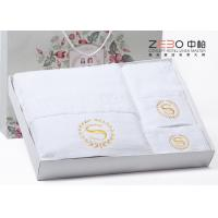 Wholesale HT09 Hotel Collection Hand Towels , White Hand Towels With Gift Pack from china suppliers