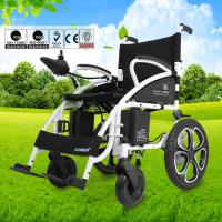 Wholesale Custom Collapsible Electric Wheelchair , Travel Wheelchair Lightweight 130kg from china suppliers