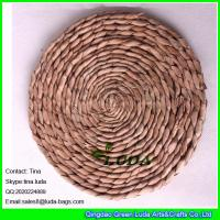 Quality LUDA handmade woven straw placemats natural fiber oval placemats for sale