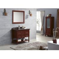 Wholesale Classical Italy Style Solid Wood Bathroom Cabinet Storage Sink Vanity With Mirror from china suppliers