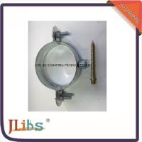 Wholesale Galvanised Steel 0.7mm - 1.2mm Pipe Saddle Clamp With Riveted Nut from china suppliers