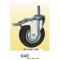 Wholesale Industrial Caster rubber caster screw with full brake 040 from china suppliers