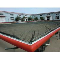 Quality HDPE Mesh Boom Inflatable Air Mat Color Optional For Swimming Pool / Sea for sale
