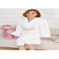 Wholesale Soft Velour Hotel Bathrobes  Flannel Robe coral Fleece for Spa from china suppliers
