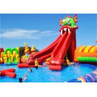 Quality Customized Logo PVC Dragon Inflatable Water Slide Park With Sewing / Hot Welded for sale