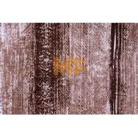 Wholesale Knitting Stripe Printed Velboa Fabric For Sofa / Pillow 143 cm Flame Retardant from china suppliers