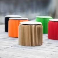 Wholesale Paper Stool Accordion Chair Creative Foldable Morden Seat Home Office Furniture from china suppliers