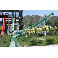 Wholesale One Rider Fiberglass Water Slides , Outdoor Fiber Glass Body Slide / Aqua loop for Water Park from china suppliers