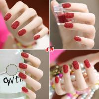 Wholesale Red One Color Nails Fashionable Pearls 3D Caviar Nails DIY ABS Plastic from china suppliers