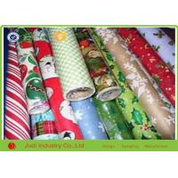 Wholesale Christmas Gift Wrapping Paper , Anti Curl Seasonal Wrapping Paper Roll from china suppliers