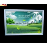 Wholesale Silver Advertisement Snap Open Slim LED Light Box for Cafe , Supermarket from china suppliers