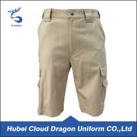 Wholesale OEM Khaki color canvas work shorts , mens tactical shorts for training from china suppliers