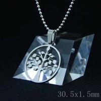 Wholesale Fashion High Quality Fashion Stainless Steel Round Shapped Necklace Pendant LPR01 from china suppliers