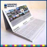 Wholesale Personalized Wire O desktop calendar printing in glossy coated art paper from china suppliers