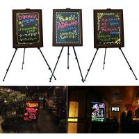 Wholesale LED Fluorescent Writing Board/coffee bar writing board  bar flip poster stand from china suppliers