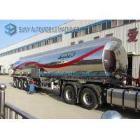 Wholesale Customized 40000L Aluminum 5454 Tank Semi Trailer Three Axle Trailers from china suppliers