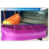 Wholesale Pink Fashion Portable Inflatable Air Bed for Outside Sleeping / Resting from china suppliers