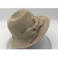 Wholesale Women's Pretty Vintage Foldable Straw Hat w/Large Accent Bowtie from china suppliers