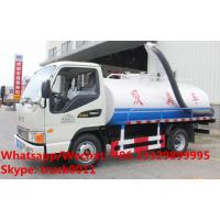 Wholesale Factory customized JAC brand 4*2 LHD 4m3 fecal suction truck for sale, HOT SALE! China cesspoolage tank truck from china suppliers