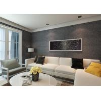 Buy cheap House Decoration Removable Vinyl Black Embossed Wallpaper for Bedrooms from wholesalers