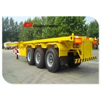 Wholesale 3 Axle 20 ft 30 ton Heavy Duty Semi Trailer With Container Skeleton from china suppliers
