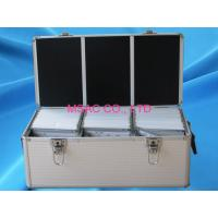 Wholesale Waterproof Silver Aluminum CD DVD Storage Case With Lock , 500 CD Cases from china suppliers