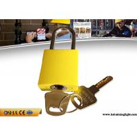 Wholesale Different Key Yellow Aluminum Safety Lockout Padlock with Brass Key from china suppliers