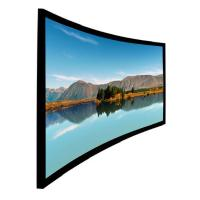 Wholesale High Level Home Theater Curved Projection Screen 100 inch  Black Aluminum Frame from china suppliers
