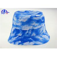 Wholesale Sublimation Blue Ladies Printed Bucket Hats / Bucket Caps with 100% Polyester from china suppliers