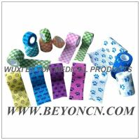 Wholesale Pattern Imprinted Cohesive Flexible Sports Tape / Colored Athletic Tape for knee from china suppliers