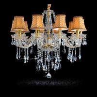 Wholesale Luxury Gold Crystal Chandelier Home lighting For bedroom Kitchen Chandelier 6 Arm Lustres De Cristal chandeliers from china suppliers