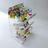 Quality Clear acrylic display telphone box with logo print for sale