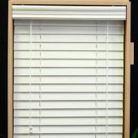 Wholesale 64mm pvc foamwood venetian blinds with steel high headrail and pvc foamwood bottomrail from china suppliers
